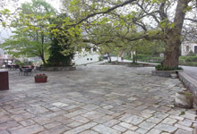 The square of Agios Stefanos in Tsagarada Pelion